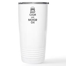 Keep Calm & Motor On Mini Travel Mug