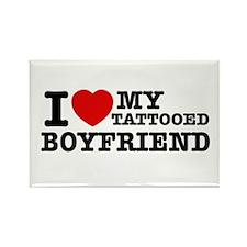 I love my Tattooed Boyfriend Rectangle Magnet