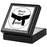 Black belt tae kwon do Square Keepsake Boxes