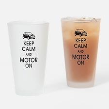 Keep Calm & Motor On Mini Drinking Glass