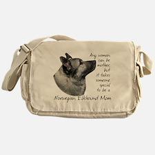 Elkhound Mom Messenger Bag