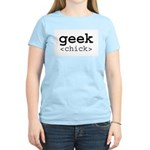 geek chick Women's Pink T-Shirt