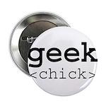 geek chick Button