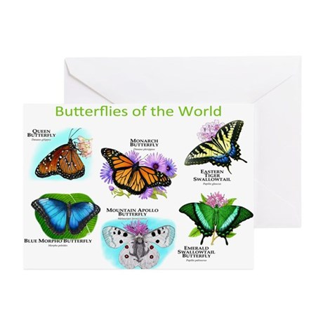 Butterflies of the World Greeting Cards (Pk of 10)