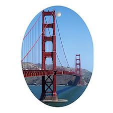 San Francisco Golden Gate Ornament (Oval)