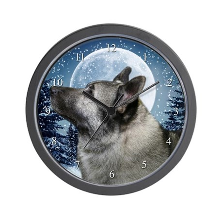 Norwegian Elkhound Wall Clock