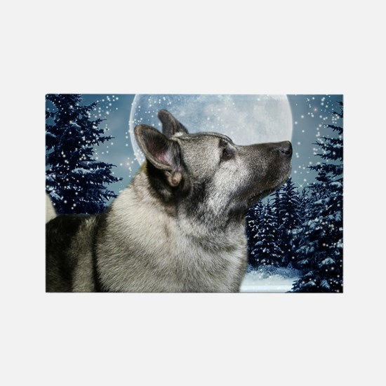 Norwegian Elkhound Rectangle Magnet