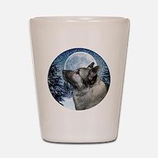 Norwegian Elkhound Shot Glass