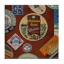 Cute Vintage train Tile Coaster