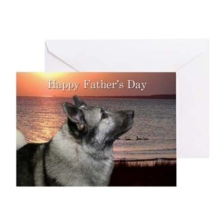 Elkhound Father's Day Card