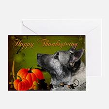 Norwegian Elkhound Thanksgiving Card