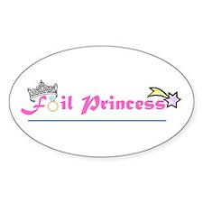 Foil Princess Oval Decal
