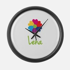 Lena Valentine Flower Large Wall Clock