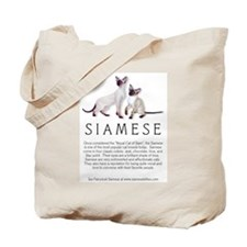 Tote Bag - Siamese Breed Info 2