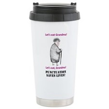 Grammar Saves Lives Travel Mug