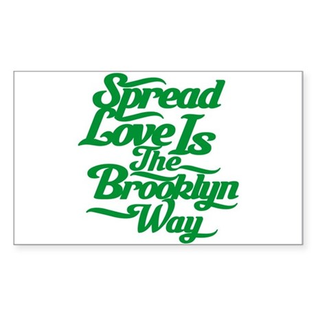 Brooklyn Love Green Sticker (Rectangle 50 pk)