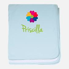Priscilla Valentine Flower baby blanket