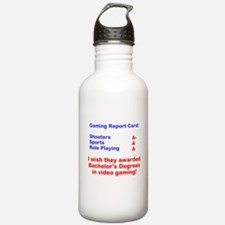Gaming Report Card Water Bottle