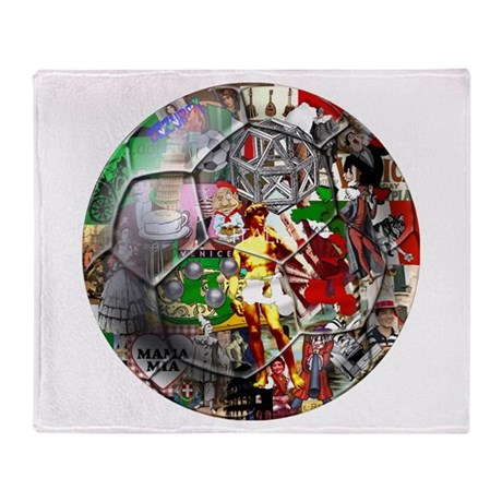 Italian Culture Ball Throw Blanket