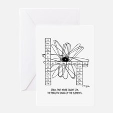 Periodic Chair Of The Elements Greeting Card