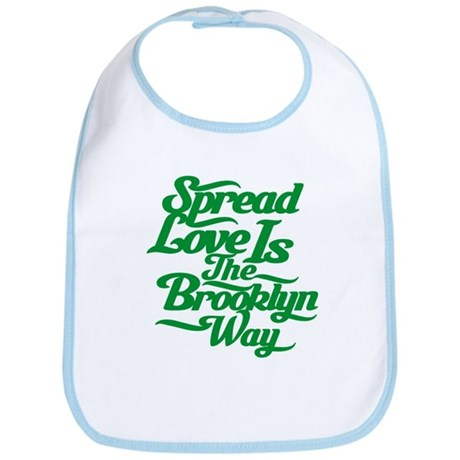 Brooklyn Love Green Bib