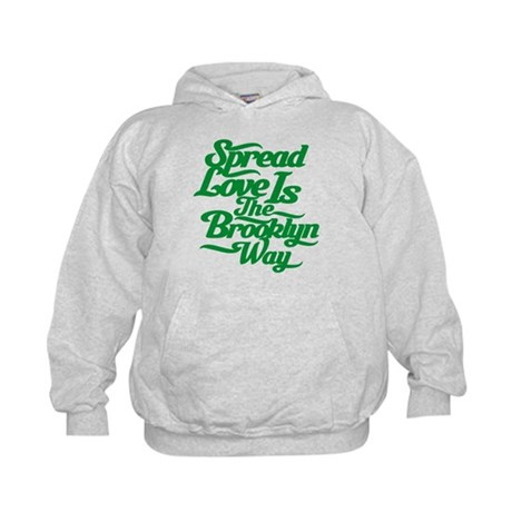 Brooklyn Love Green Kids Hoodie