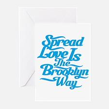 Brooklyn Love Blue Greeting Cards (Pk of 10)