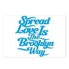 Brooklyn Love Blue Postcards (Package of 8)