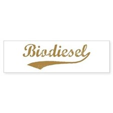Brown Vintage Biodiesel Bumper Bumper Sticker