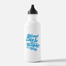 Brooklyn Love Blue Water Bottle