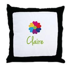 Claire Valentine Flower Throw Pillow