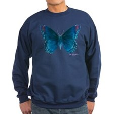 Big blue butterfly Sweatshirt