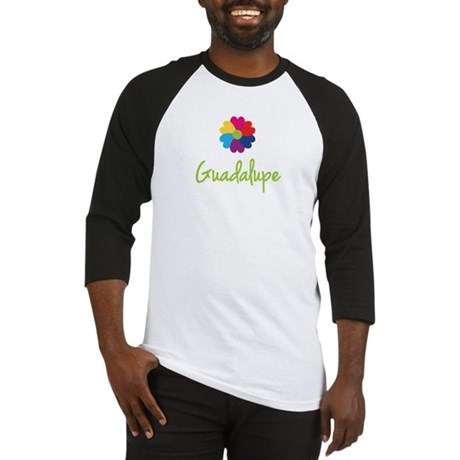 Guadalupe Valentine Flower Baseball Jersey