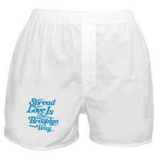 Brooklyn Love Blue Boxer Shorts