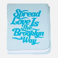 Brooklyn Love Blue baby blanket