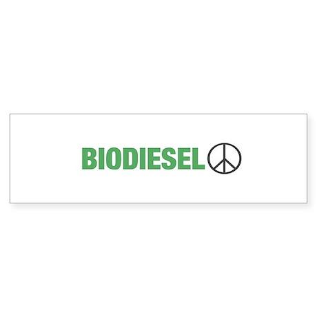 Biodiesel Peace Bumper Sticker