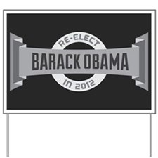 Gray Headline Obama Yard Sign