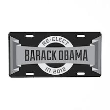 Gray Headline Obama Aluminum License Plate