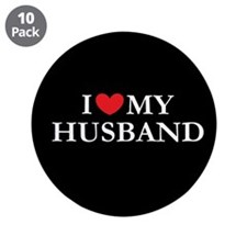 """I love my husband 3.5"""" Button (10 pack)"""