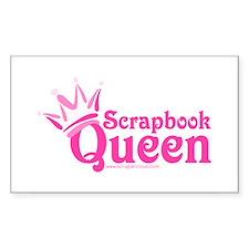 Scrapbook Queen - Pink Rectangle Decal