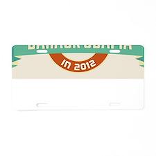 Burnished Headline Obama Aluminum License Plate