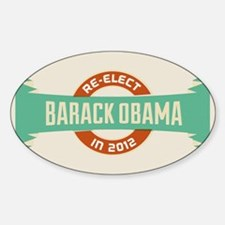 Burnished Headline Obama Decal