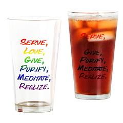 Mantra Drinking Glass