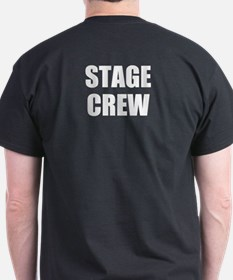 STAGE CREW on BACK Dark T-shirt