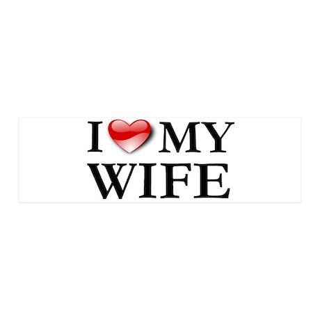 I love my husband 42x14 Wall Peel