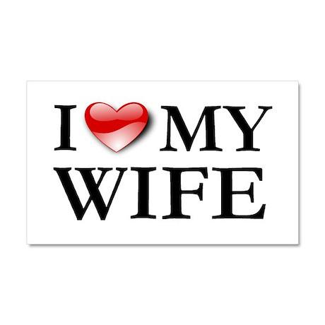 I love my husband Car Magnet 20 x 12