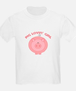 Pig girl Kids T-Shirt