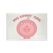 Pig girl Rectangle Magnet