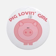 Pig girl Ornament (Round)