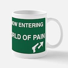 World of Pain Road Sign Mug